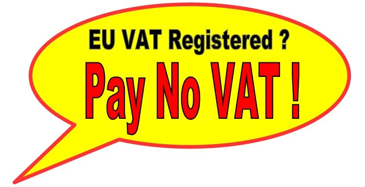Tax Free Shopping for EU VAT Registered companys.