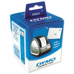 Dymo 99012 White Large Address Labels 89x36mm - www.DiscountTillRolls.ie