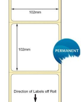 880170-101 Zebra 102x102mm Z-Select 1000D Direct Thermal Labels . www.DiscountTillRolls.com