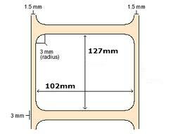 102x127mm Zebra Direct Thermal Labels | 800264-505 ... www.DiscountTillRolls.ie