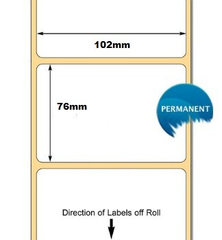 3006326 Labels. 102 x 76mm Thermal Transfer Labels 76mm Core .. www.DiscountTillRolls.ie