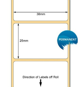 880114-025 Labels. 38 x 25mm Thermal Transfer Labels 76mm Core .. www.DiscountTillRolls.ie