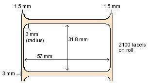 880409-031DU Zebra 57x32mm  Z-Perform 1000 Thermal Transfer Labels . www.DiscountTillRolls.com