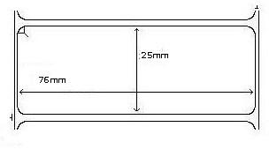 800263-105  Zebra 76x25mm Z-Select 2000D Direct Thermal Labels . www.DiscountTillRolls.com