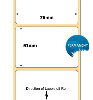 76055 Labels. 76 x 51mm Thermal Transfer Labels 76mm Core .. www.DiscountTillRolls.ie