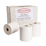 110 x 100mm Direct Thermal Paper Rolls (12 Rolls)