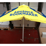 Advance Bookmakers Rails Bookmakers Square Racecourse Rails Umbrella Extra Strong Steel Tube Ribs ... www.DiscountTillRolls.ie