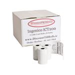 Ingenico iCT200 Credit Card Rolls ..  www.DiscountTillRolls.ie