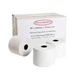 80x100x25mm Core Thermal Ticket Rolls (105gsm) (10 Roll Box)