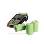 57x40mm Green Coreles Credit Card Till Rolls (20 Roll Box)