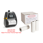Zebra QLn420 Direct Thermal Paper Rolls  .. www.DiscountTillRolls.ie