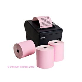80x80 Pink Thermal Paper Till Rolls (20 Roll Box)