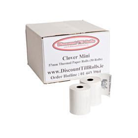 Clover Mini Thermal PDQ Rolls (50 Roll Box)