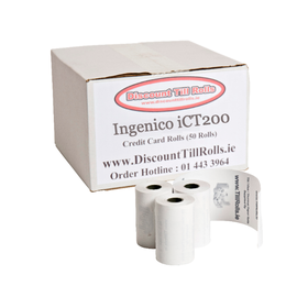 Ingenico iCT220 Credit Card Rolls (50 Roll Box)