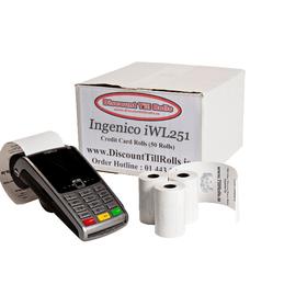 Worldpay iWL251 Credit Card Till Rolls (50 Roll Box)
