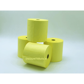 76x76mm Yellow Wet Strength Laundry Paper Rolls (20 rolls)