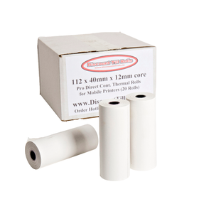 112x40mm Direct Thermal Rolls