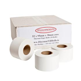 52x95x38 Scales Thermal Till Rolls (20 Roll Box)
