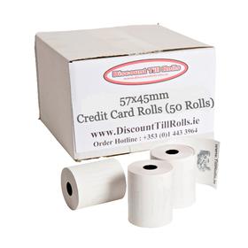 57x45 Credit Card Machine Rolls (50 Roll Box)