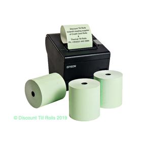 80x80 Green Thermal Till Rolls (20 Roll Box)