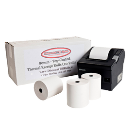 80x80 Top-Coated Thermal Rolls (80gsm) (20 Roll Box)