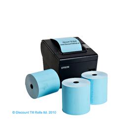 80x80 Blue Thermal Till Rolls BPA Free (20 Roll Box)