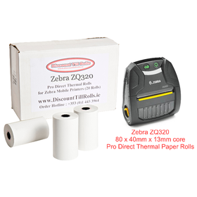 Zebra ZQ320 Direct Thermal Rolls