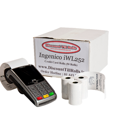 Ingenico iWL252 Credit Card Rolls (50 Roll Box)