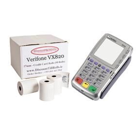 Verifone VX810 Credit Card Till Rolls (50 Roll Box)