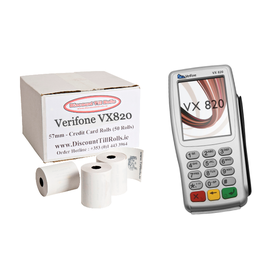 Verifone VX820 Credit Card Till Rolls (50 Roll Box)