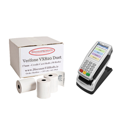 Verifone VX820 Duet Credit Card Till Rolls (50 Roll Box)