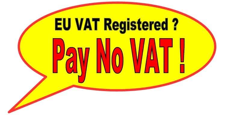 Tax Free Shopping for EU VAT Registered companys
